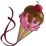 Süßer Eiscreme-Drachen für Kinder | Einfache Montage | Bestens für Spiele und Abenteuer | Lebenslange Garantie