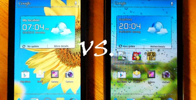 Huawei Ascend G615 vs Ascend G600 - Der Vergleich