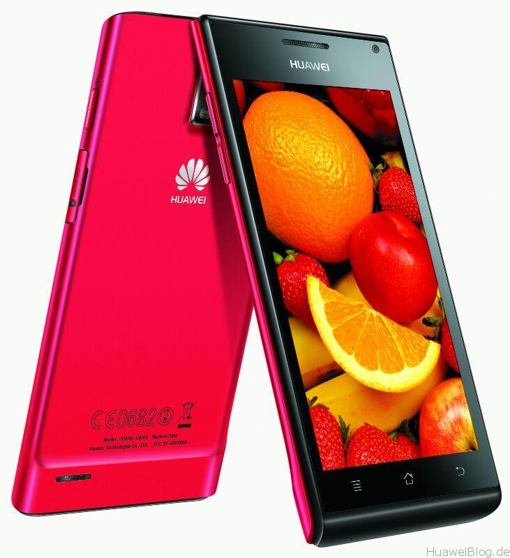 Huawei Ascend P1 metalic red