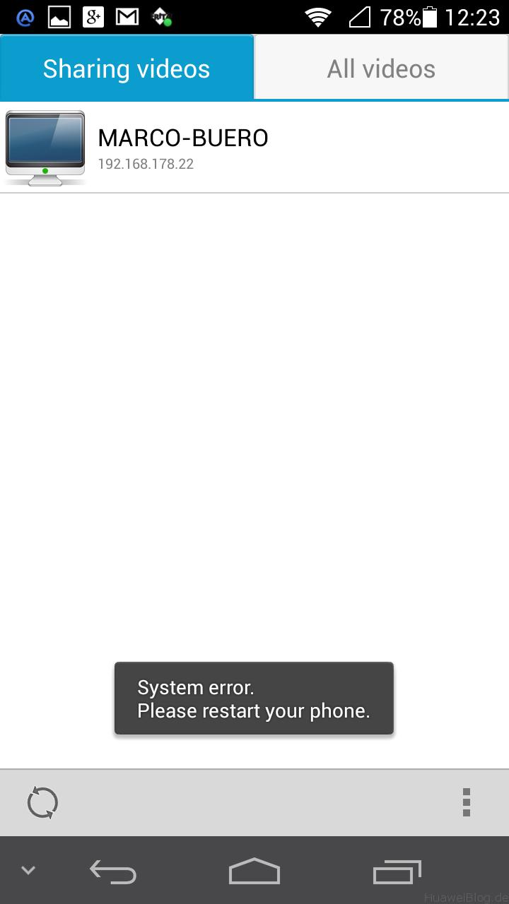 Huawei Emotion UI Happy Share