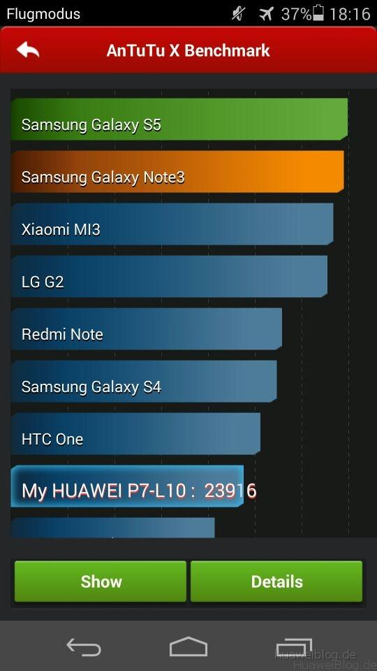 Huawei Ascend P7 AnTuTu Benchmark