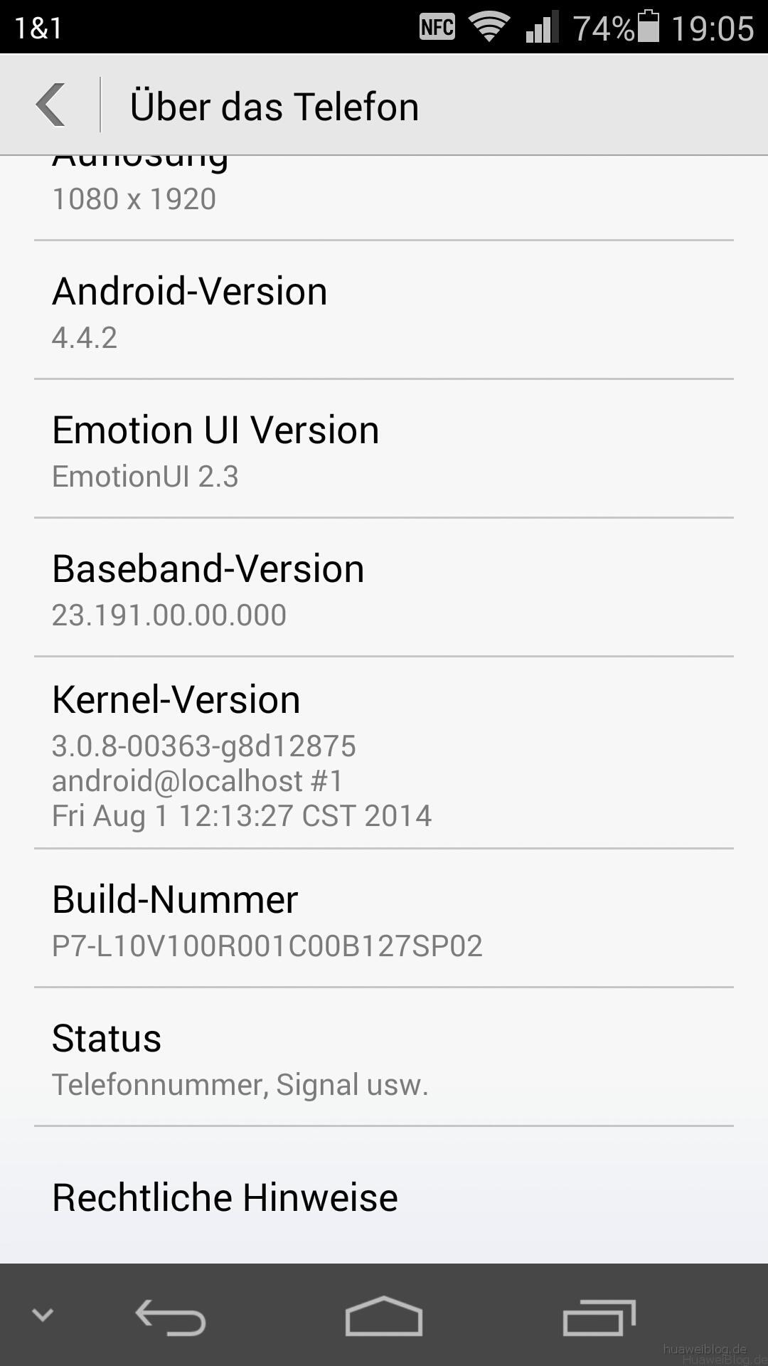 Huawei Ascend P7 Firmware B127SP02