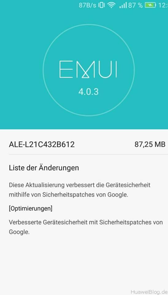 Huawei P8 lite Firmware Update B612