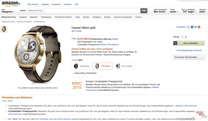 Huaweiwatch - Preis - Amazon