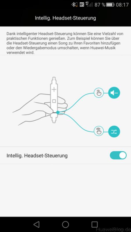 Huawei P8 - Intelligente Headset Steuerung