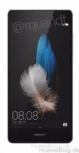 Huawei P8 Lite schwarz Frontansicht