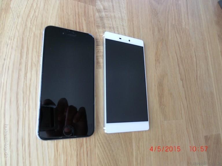 iPhone6 vs. Huawei P8 - Größenvergleich - seite