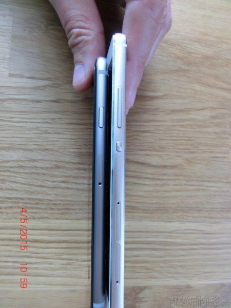 iPhone6 vs. Huawei P8 - Seitenansicht - links