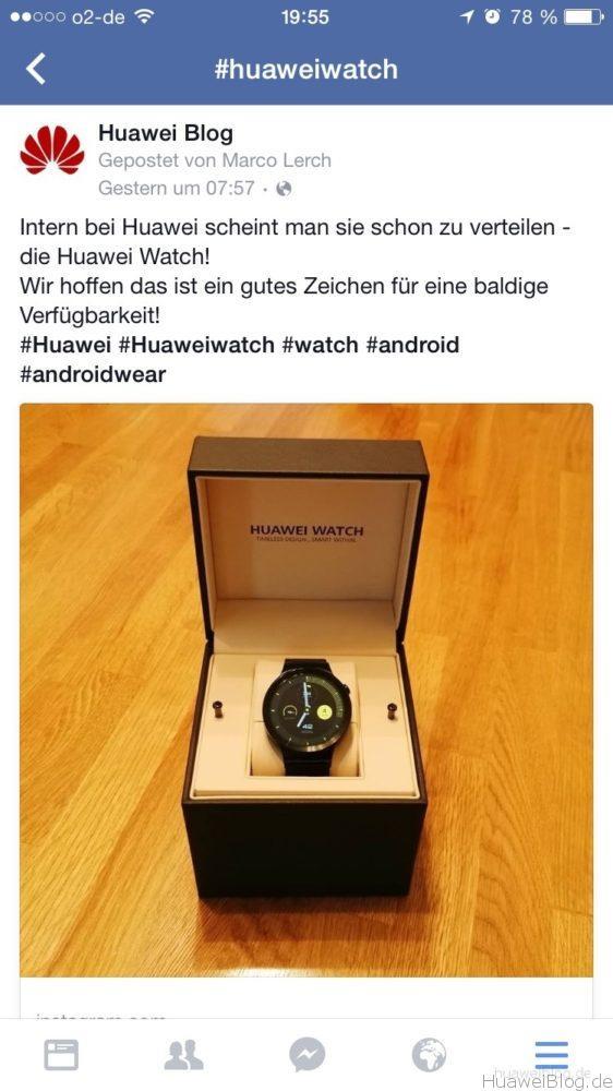 Huawei Watch auf Instagram