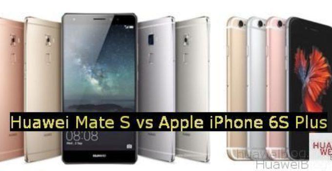 Huawei Mate S vs. iPhone 6S Plus