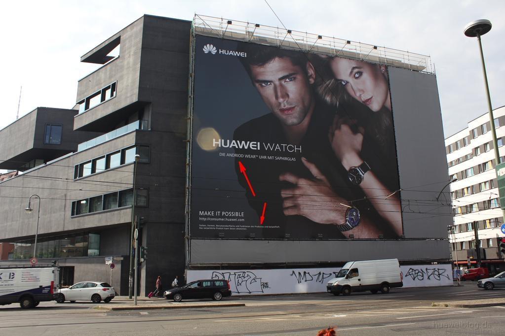 Huawei - Berlin - Werbeplakat - Andriod