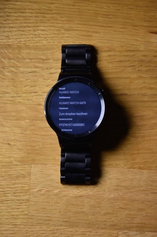 Huawei Watch System Info
