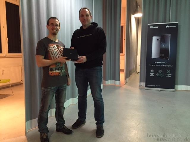 Huawei Mate S Fan Event München - Gewinner - Ronny Walther