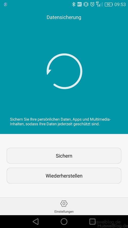 Huawei Backup App Datensicherung