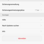 Huawei Backup App Einstellungen