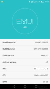 Huawei Mate S Marshmallow EMUI 4