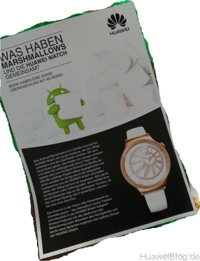 Huawei Watch Update Marshmallow Android Wear 1.4 Flyer