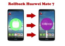 Mate 7 Rollback