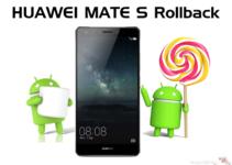 Huawei Mate S Rollback von Marshmallow auf Lollipop