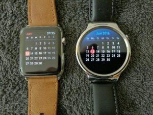 Huawei Watch vs Apple Watch Kalender