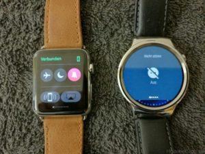 Huawei Watch vs Apple Watch Toggles