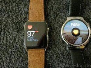 Huawei Watch vs Apple Watch Puls