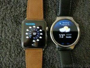 Huawei Watch vs Apple Watch Wetter 1