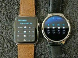 Huawei Watch vs Apple Watch Wetter Vorhersage