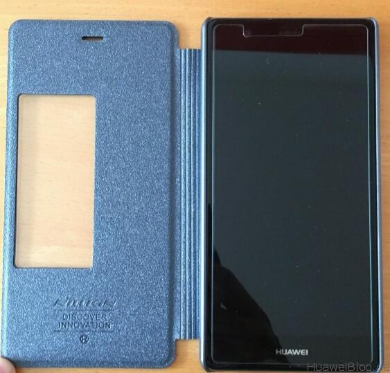 TopAce® Flip Case (Grau-schwarz) Offen