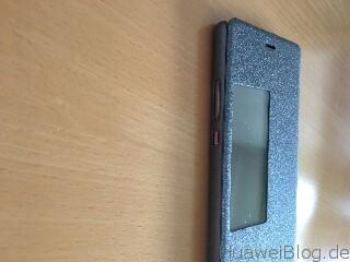 TopAce® Flip Case (Grau-schwarz) Seite