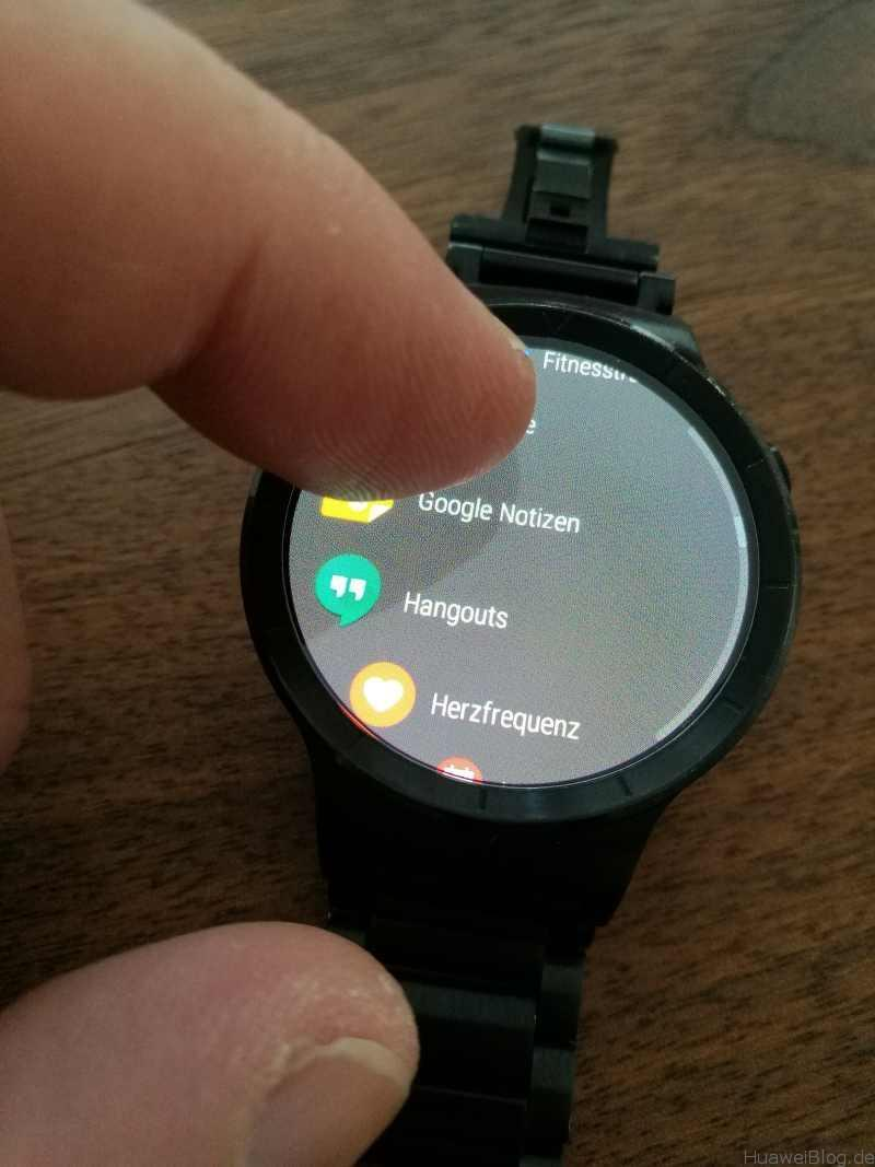 Android Wear 2.0 Huawei Watch App Drawer