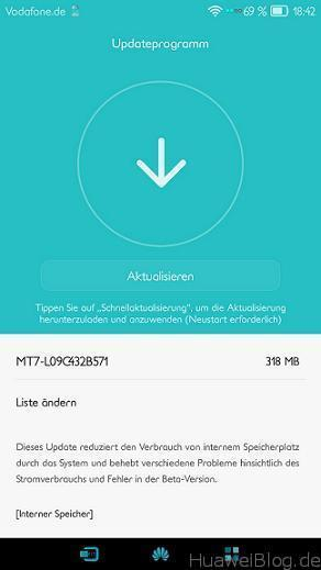 Huawei Mate 7 B571 Update