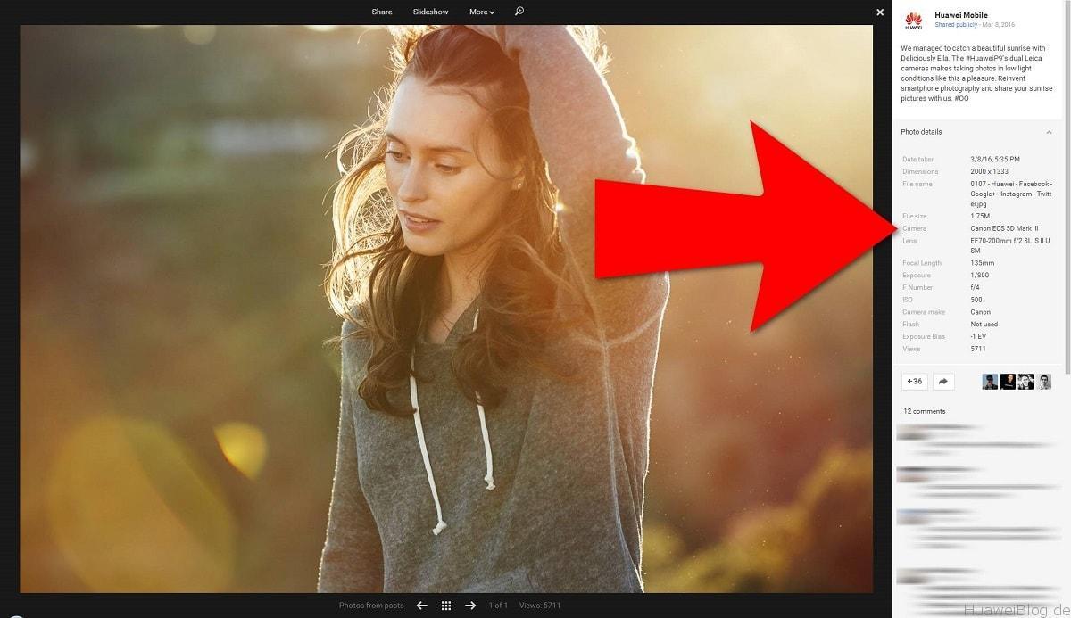 Huawei Werbung Bilddaten