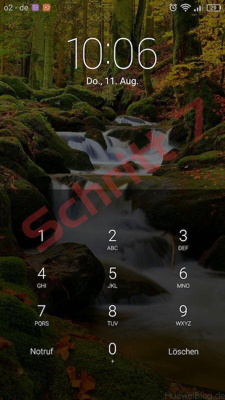 Bildschirmsperre deaktivieren - Anleitung - Huawei