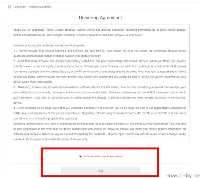 Huawei Bootloader Unlock 5
