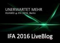 [IFA2016] Huawei Pressekonferenz – LiveBlog