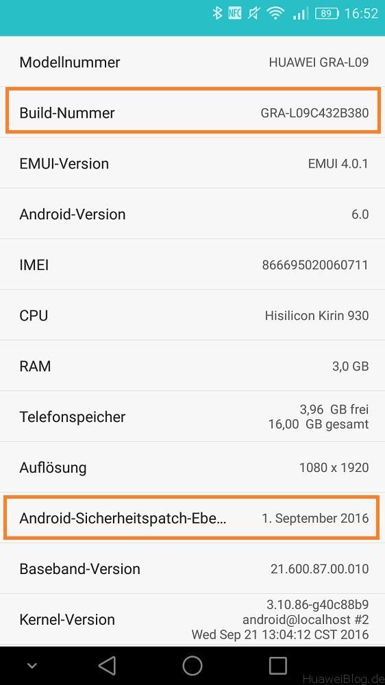 Huawei P8 Update GRA-L09C432B380 Leak Info