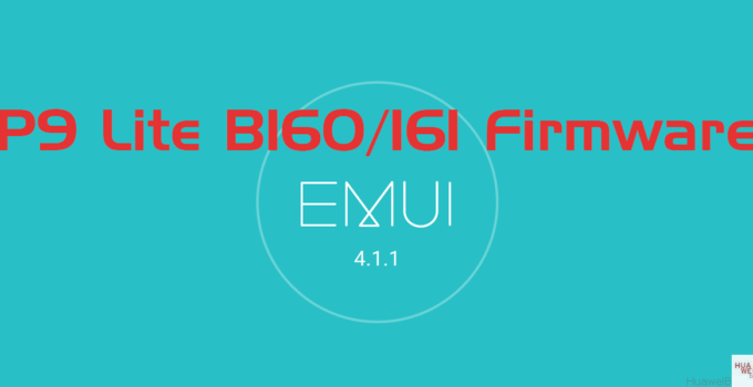 Huawei P9 Lite B160 / B161 Firmwareupdate