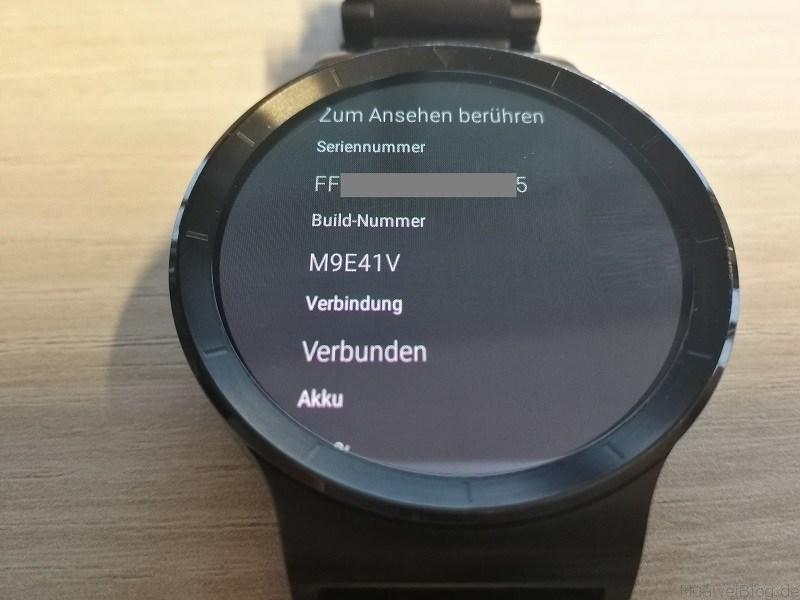 Huawei Watch Update M9E41V