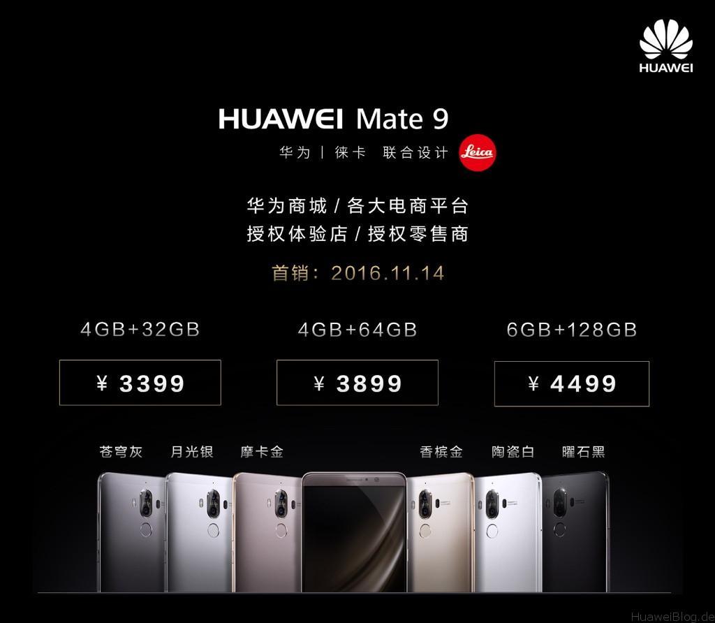 Huawei Mate 9 Modelle