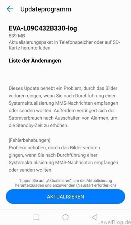 Huawei P9 Android 7 Beta Update B330