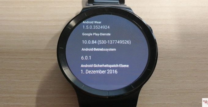 Huawei Watch Update