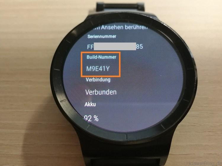 Huawei Watch Update M9E41Y