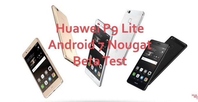 Huawei P9 Lite Beta Header