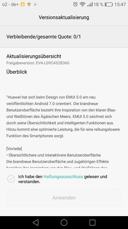 Huawei P9 Nougat Update B360