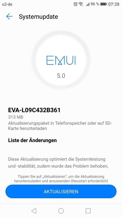 Huawei P9 Update B361 Changelog