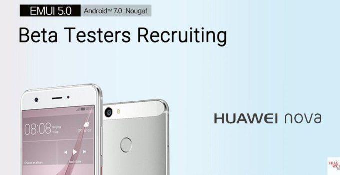 Huawei nova nougat Beta Test