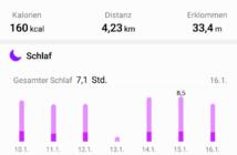 Huawei Watch 2 Anzeige Gesundheits-App