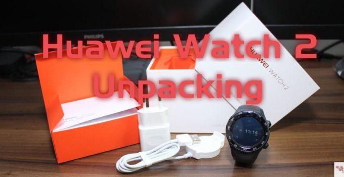 Huawei Watch 2 - carbon black - Unpacking