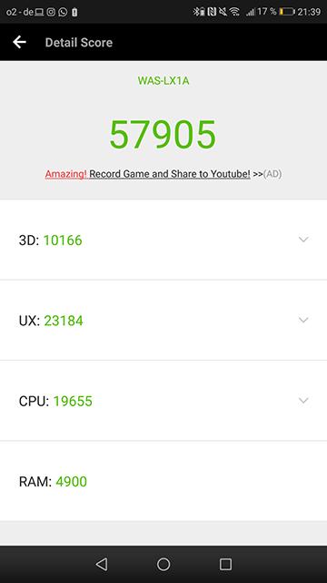 AnTuTu Score Huawei P10 Lite